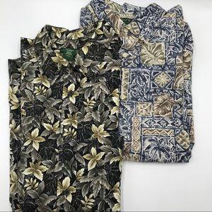 David Taylor Hawaiian Shirts Lot 2 XLT